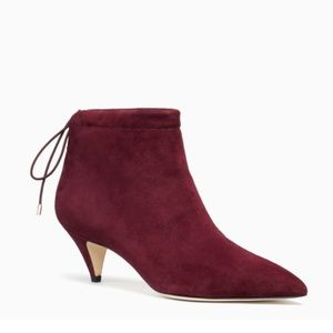 NWT Kate Spade Sophie Suede boots deep cherry